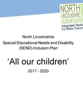 Front cover for SEND Inclusion plan