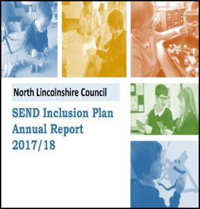 Cover for the SEND Inclusion plan annual report 17-18