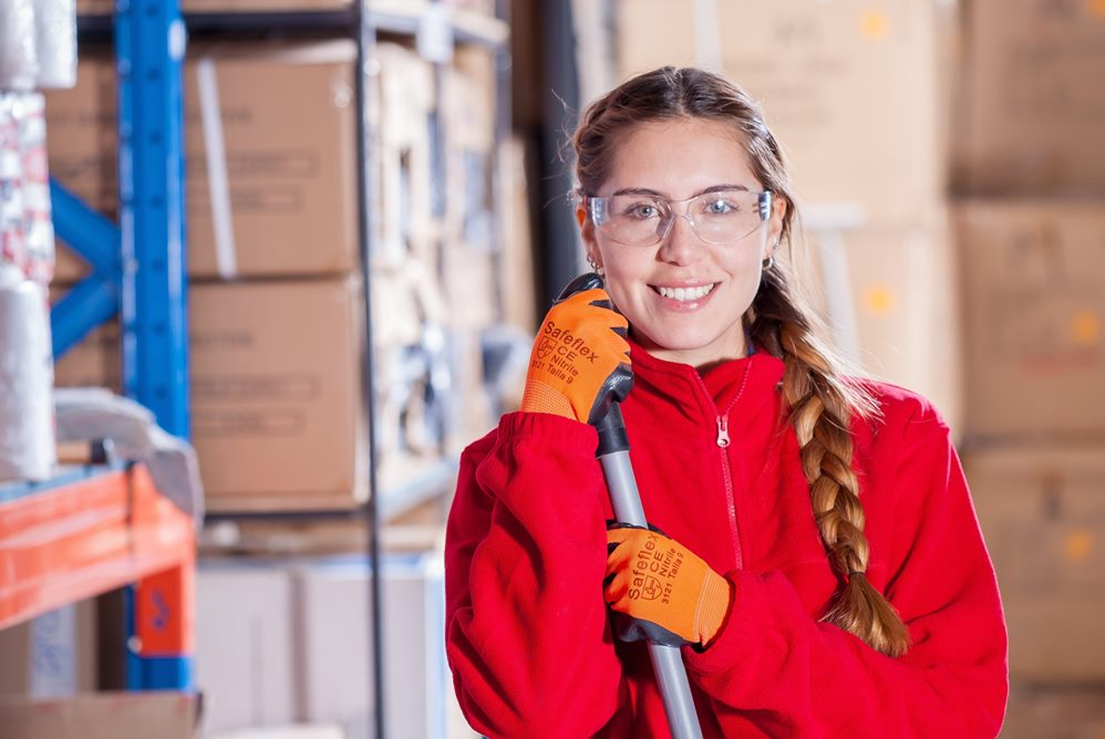Employee at work in the warehouse