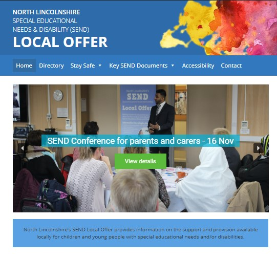 Photo of the Local Offer website